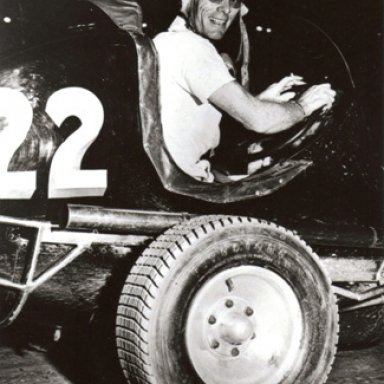 Red Byron in a Parks owned Midget - 1949