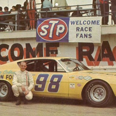 Benny Parsons behind the stands at the Dayton Speedway