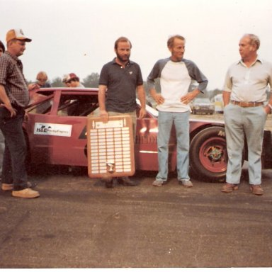 Pete Silva & his father George at Unity Raceway Maine