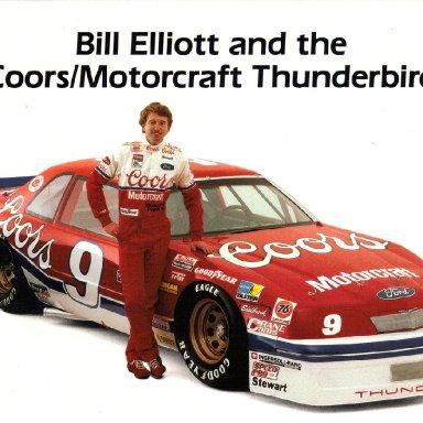 Bill Elliott 1988 Post Cards