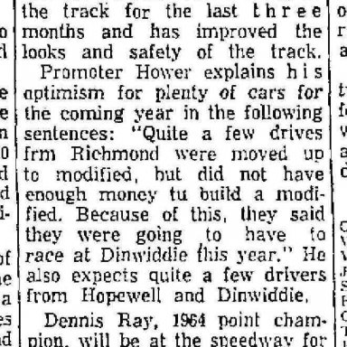 Dinwiddie Races