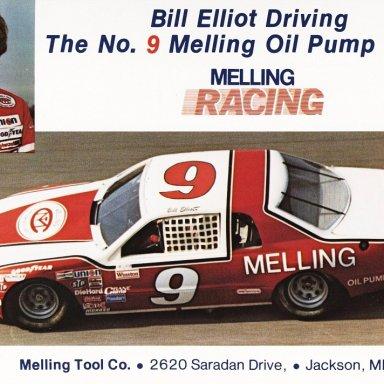 Bill Elliott - 1983 post card