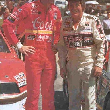 Bill Elliott and Dick Trickle - 1985
