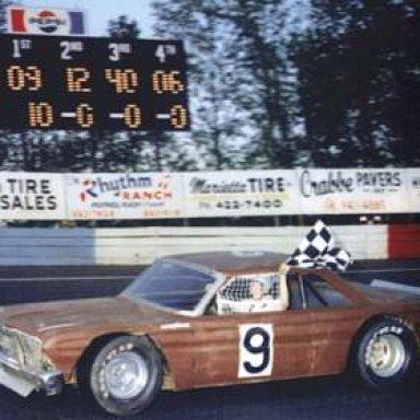 Bill Elliott's first career stock car win - Dixie Speedway 1974