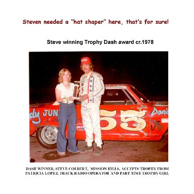 Steve Colbert wins Trophy Dash at Saugus Speedway