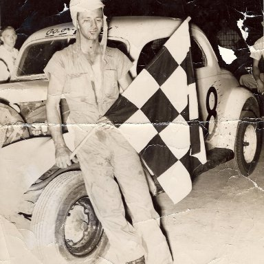 Bud Allman's Car with Ralph Earnhant Winning