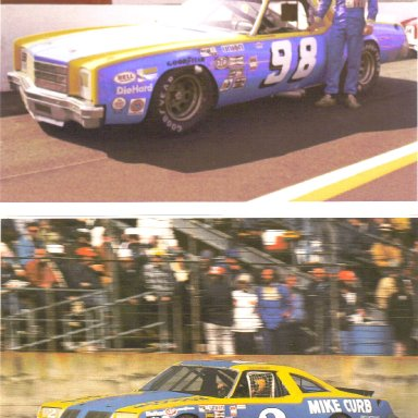 Dale Earnhardt #98 1978 Monte Carlo, #2 Mike Curb 1980 Olds 88