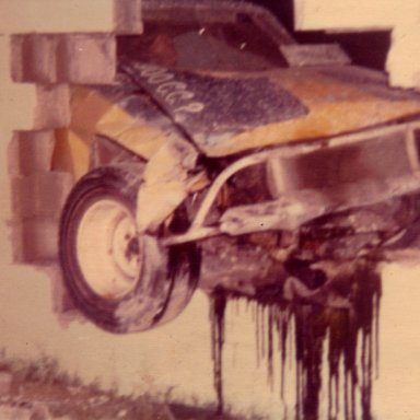 Opel threw the wall @ Memorial Stadium 1972