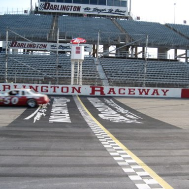 MARION COX THUNDERBIRD AT DARLINGTON START /FINISH LINE
