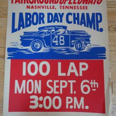 stock car poster Fariground Speedway , Nashville, TN