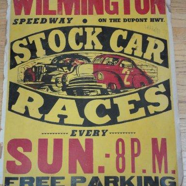 Stock car poster Wilmington (DE?)