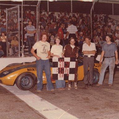 Tommy Knox  w/ #99  Opel GT @ New Smyrna 1980