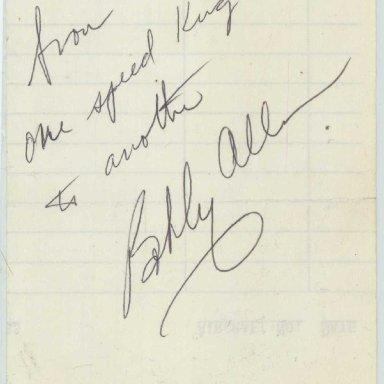 Bobby Allison Autograph