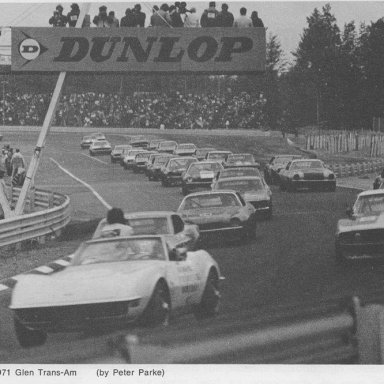 Watkins Glen 1971 Trans Am pré-start