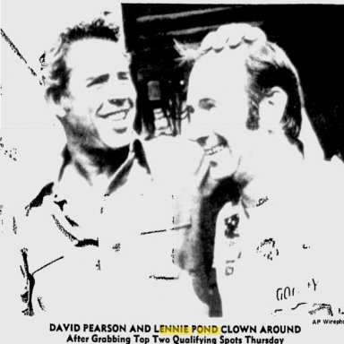 David Pearson and Lennie Pond