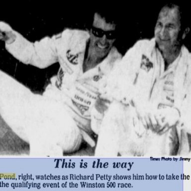 Richard Petty and Lennie Pond