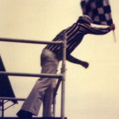 Flagger Phil Bennett @ Brookfield Speedway (NY)...Late 70's