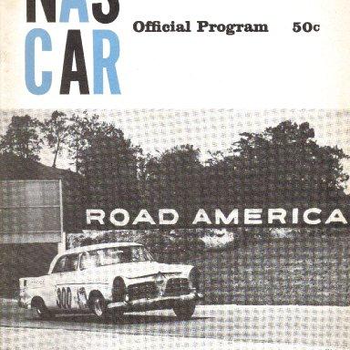 1956 Nascar Program for Road America