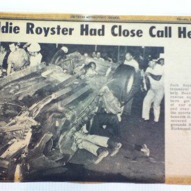 Eddie Royster wreck at Richmond