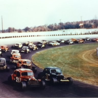 Eddie Royster Woods Brothers Coupe at Martinsville day it was crashed