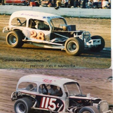 Jelley #28 and the 115L both in 1974