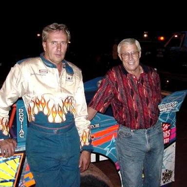 Jack Pennington and Slick Gibbons put on many battles during their careers. They are seen here at Sumter Speedway.