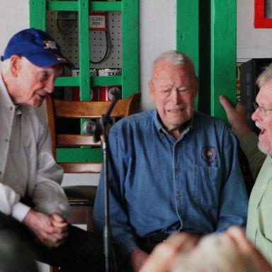 Truelove  and McDonald with Buzz McKim, racing historian