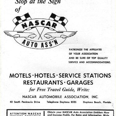 1955 Nascar Program Ad