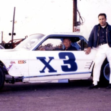 "Tony Ferrante and Jim Hendrickson Mustang Late 1960""s at Islip Speedway"