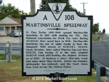Martinsville Historic Marker