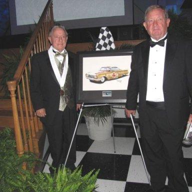 Rex White & Eddie Spurling at Hall of fame