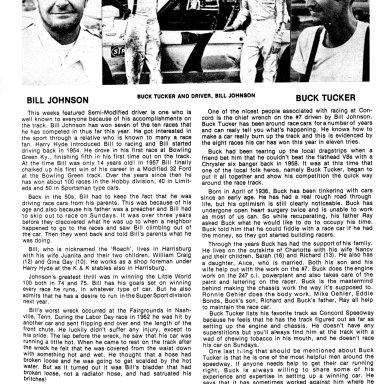 Bill Johnson and Buck Tucker Early 1975