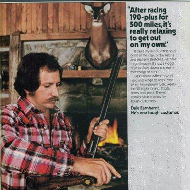 Dale in Junior Johnson's Cabin