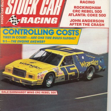 Earnhardt / Moore '82 Ford T-Bird SCR Cover