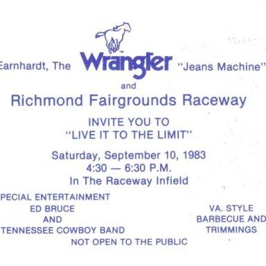 Dale Earnhardt Invitation