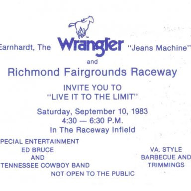 Dale Earnhardt Invitation