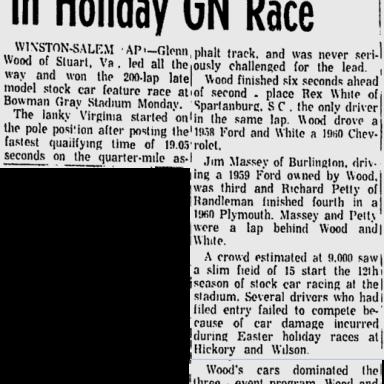 1960 April Bowman Gray Glen Wood
