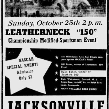 Jacksonville Speedway - October 25, 1964