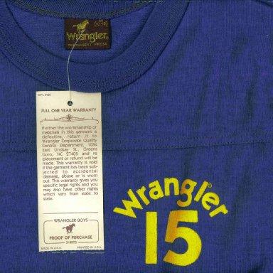 1982 Team Wrangler Shirt Front