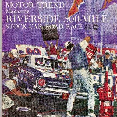 1964 RIVERSIDE 500 PROGRAM
