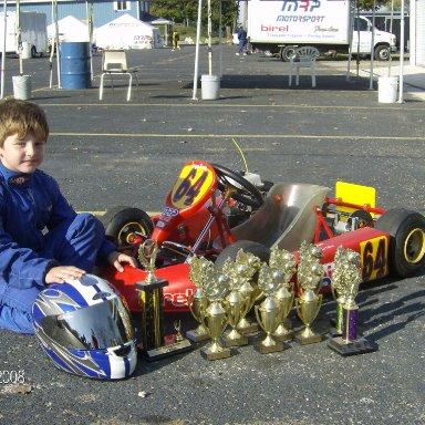 Cole 2008 season trophies