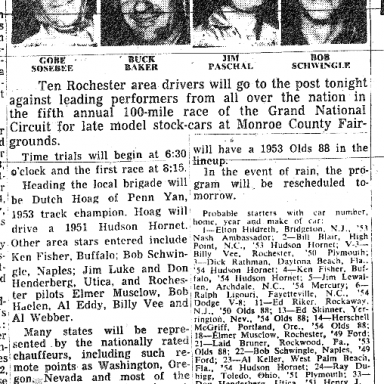 1954 Rochester preview