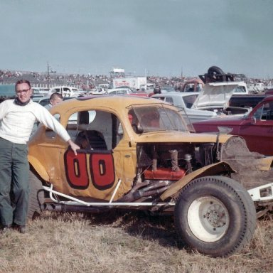 Neil Haight 00 1964 Neil Haight from Sykesville, MD.  The track is Langhorne - - I gotta say 1964 (maybe 63).  The owner of the car was Moe Harden from Pikesville, MD.  The car was driven regularly by