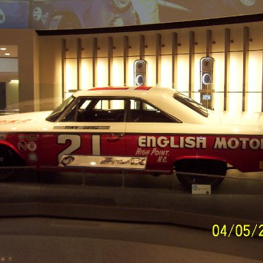 Tiny Lund Daytona 500 winning car
