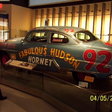 Fabulous Hudson Hornet driven by Herb Thomas