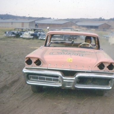 1970- 35MM SLIDE -DIRT TRACK PERIMITER DUNSMUIR,CA