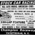 Champion Raceway Ad - November 2, 1958