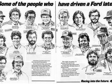 1985 Ford Racing Ad