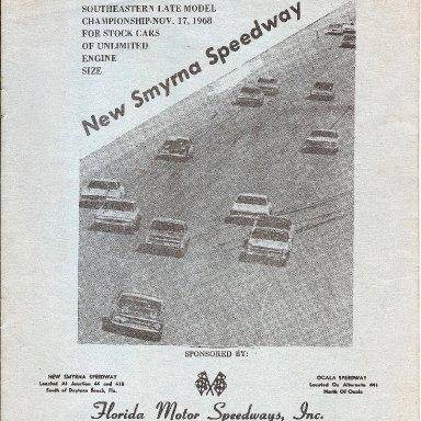 New Smyrna program Nov 17, 1968
