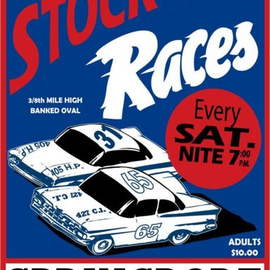 Springport Speedway, Springport, Mich. NEW Promotional Poster